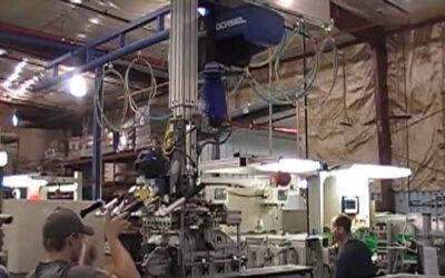 Transport sprężarki na linii produkcyjne