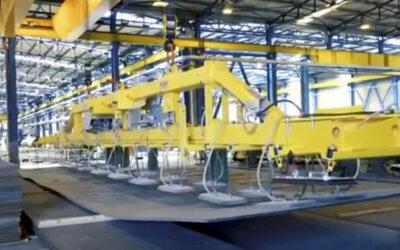 Transport płyt stalowych wielkogabarytowych