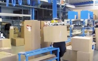 Sztaplowanie kartonów