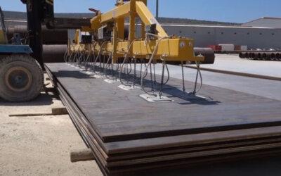 Transport blach z wykorzystaniem zawiesia wózka widłowego