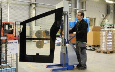 Transport paneli szklanych rozwiązanie mobilne