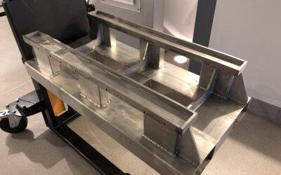 Platforma odkładcza do pieca